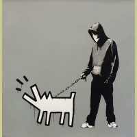 Banksy Choose Your Weapon (Grey)