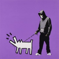 Banksy Choose Your Weapon (Bright Purple)