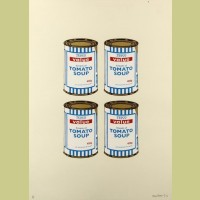 Banksy Soup Cans Quad (Cream Paper)