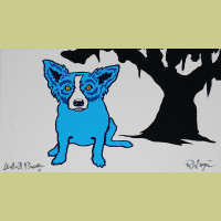 George Rodrigue Blue For You White