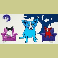 George Rodrigue Waiting for My TV Dinner - White