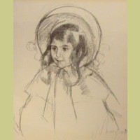 Mary Cassatt Sara Wearing Her Bonnet and Coat
