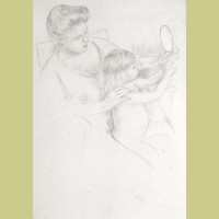 Mary Cassatt Looking into the Mirror (no. 2)