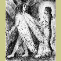 Marc Chagall Man Guided by God