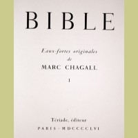 Marc Chagall The Bible Etchings Title Page