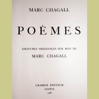 Marc Chagall Poemes Title Page