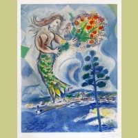 Marc Chagall (after) Sirène au Pine