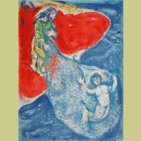 Marc Chagall When Abdullah got the net ashore..., from Arabian Nights