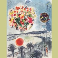 Marc Chagall (after) Sunset, from Nice and the Cote d'Azur