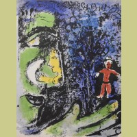 Marc Chagall Profile and Red Child