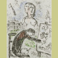 Marc Chagall Le Peintre from Songes (1981)
