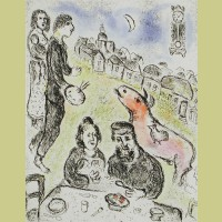 Marc Chagall Le Repas from Songes (1981)