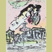 Marc Chagall The Lovers' Heaven