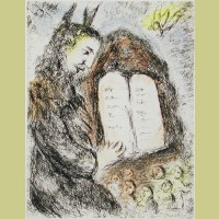 Marc Chagall Moises from Songes (1981)
