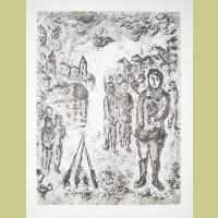 Marc Chagall Etching I from Et Sur la Terre... (1977)