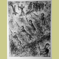 Marc Chagall Etching X from Et Sur la Terre... (1977)