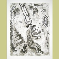 Marc Chagall Etching II from Et Sur la Terre... (1977)