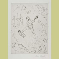 Marc Chagall Etching III from Et Sur la Terre... (1977)