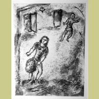 Marc Chagall Etching V from Et Sur la Terre... (1977)