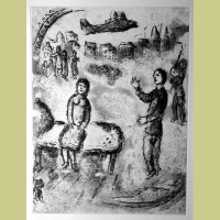 Marc Chagall Etching VII from Et Sur la Terre... (1977)