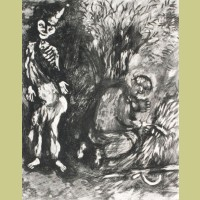 Marc Chagall Death and the Woodcutter, from Les Fables de la Fontaine, Volume I