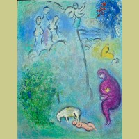 Marc Chagall Daphnis Discovers Chloe, from Daphnis and Chloe