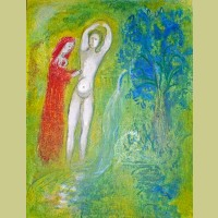 Marc Chagall Daphnis and Chloe Beside the Fountain, from Daphnis and Chloe
