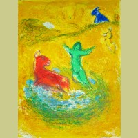 Marc Chagall The Wolf Pit, from Daphnis and Chloe