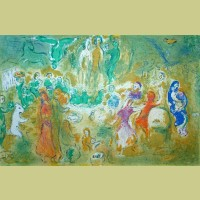 Marc Chagall Wedding Feast in the Nymphs' Grotto, from Daphnis and Chloe