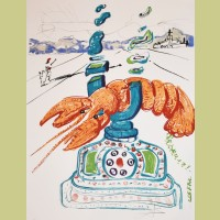 Salvador Dali Cybernetic Lobster Telephone