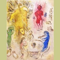 Marc Chagall Pan's Banquet, from Daphnis and Chloe