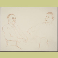 David Hockney Bill and James II, 1980