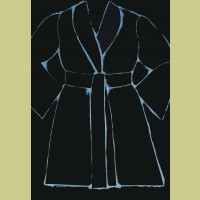 Jim Dine Black and White Bathrobe