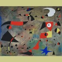 Joan Miro (after) Femme et oiseaux (Woman and Birds), Plate VIII