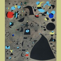 Joan Miro (after) Femme dans la nuit (Woman in the Night), Plate IX