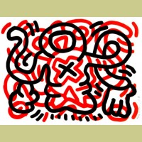 Keith Haring Ludo Plate 3