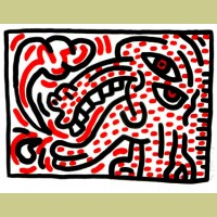 Keith Haring Ludo Plate 4