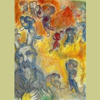 Marc Chagall Moses Sees the Sufferings of His People, from The Story of Exodus