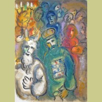 Marc Chagall Moses and Aaron with the Elders, from The Story of Exodus