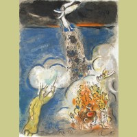 Marc Chagall Moses Calls the Waters Down on the Egyptian Army, from The Story of Exodus