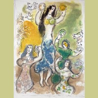 Marc Chagall Miriam Took a Timbrell, from The Story of Exodus