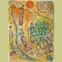 Marc Chagall The People May Drink, from The Story of Exodus