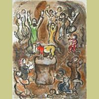 Marc Chagall The Adoration of the Golden Calf, from The Story of Exodus