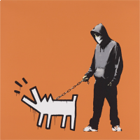 Banksy Choose Your Weapon (Dark Orange)
