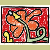 Keith Haring Flowers Plate 5