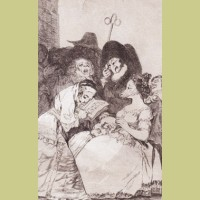 Francisco Goya La Filiacion, from Los Caprichos