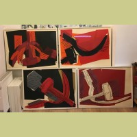 Andy Warhol Hammer and Sickle (Set of Four)