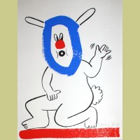 Keith Haring The Story of Red and Blue Plate 18