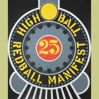 Robert Indiana Highball on the Redball Manifest