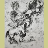 Marc Chagall The Horse and the Donkey, from Les Fables de la Fontaine, Volume II